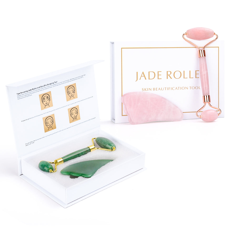 Wrinklerie™ - Healthier And Better Skin, facial muscles, jade roller, jade face roller, quartz rose jade roller, quartz green tea jade roller, jade roller before and after, jade face roller benefits, best jade roller, jade roller benefits, benefits of a face roller, jade roller beauty, jade roller lymphatic drainage.