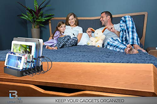 Charging Station - Smart 6 Port USB charger , compatible with iPhone, Ipad  and any Android phones or tablets