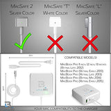 Macbook Pro Charger 60W Power Adapter Magsafe 2 T-tip Style Connector - White
