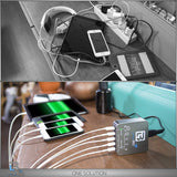 Multi USB Charger- 5 USB Port charger compatible with Iphone, iPad, iPod, Samsung, LG, Huawei and other