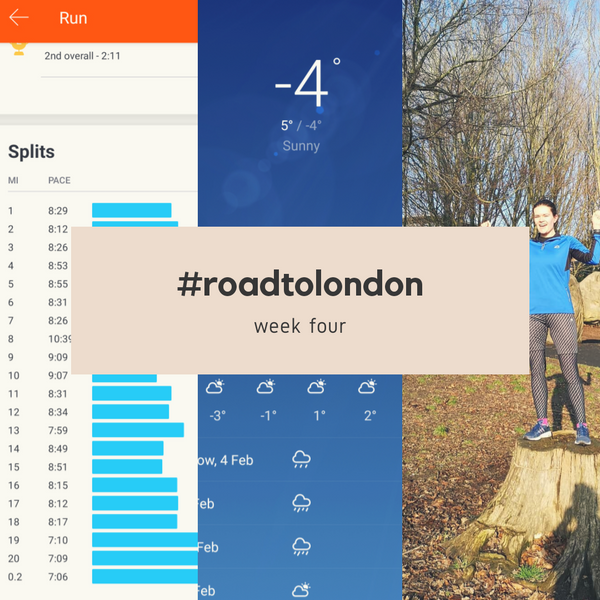 London Marathon: Training week four