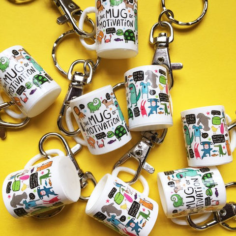 Mini Mug of Motivation keyring Katie Abey Design