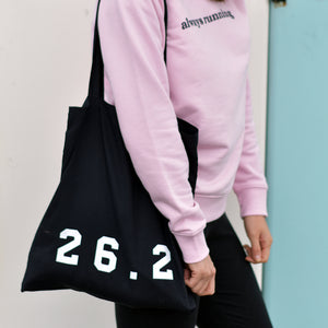 26.2 Marathon Tote Bag Black