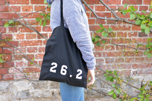 26.2 Marathon Tote Bag Black - Track and Fit Club