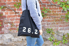 Load image into Gallery viewer, 26.2 Marathon Tote Bag Black - Track and Fit Club