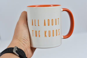All About the Kudos Strava Mug - Track and Fit Club