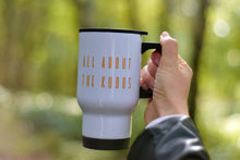 Load image into Gallery viewer, All About the Kudos Travel Mug - Track and Fit Club