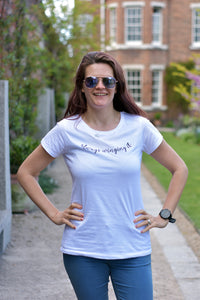 Always Winging It Tshirt White - Track and Fit Club
