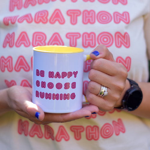 Be Happy Choose Running Mug