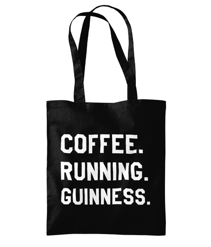 Coffee Running Guinness Tote Bag - Track and Fit Club