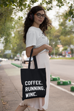 Load image into Gallery viewer, Coffee Running Wine Tote Bag - Track and Fit Club