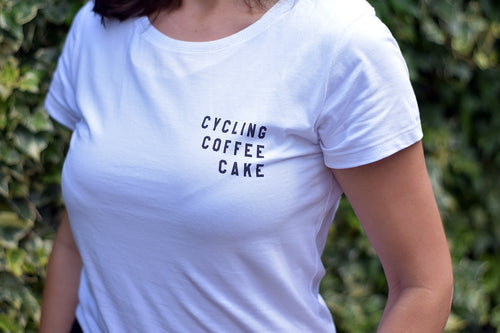 Cycling Coffee Cake Tshirt - Track and Fit Club