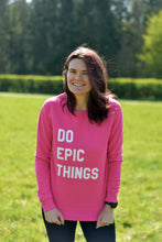Load image into Gallery viewer, Do Epic Things Sweater Pink - Track and Fit Club