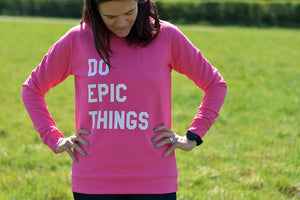 Do Epic Things Sweater Pink - Track and Fit Club