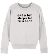 Load image into Gallery viewer, Eat a lot Sleep a lot Run a lot Sweater - Track and Fit Club