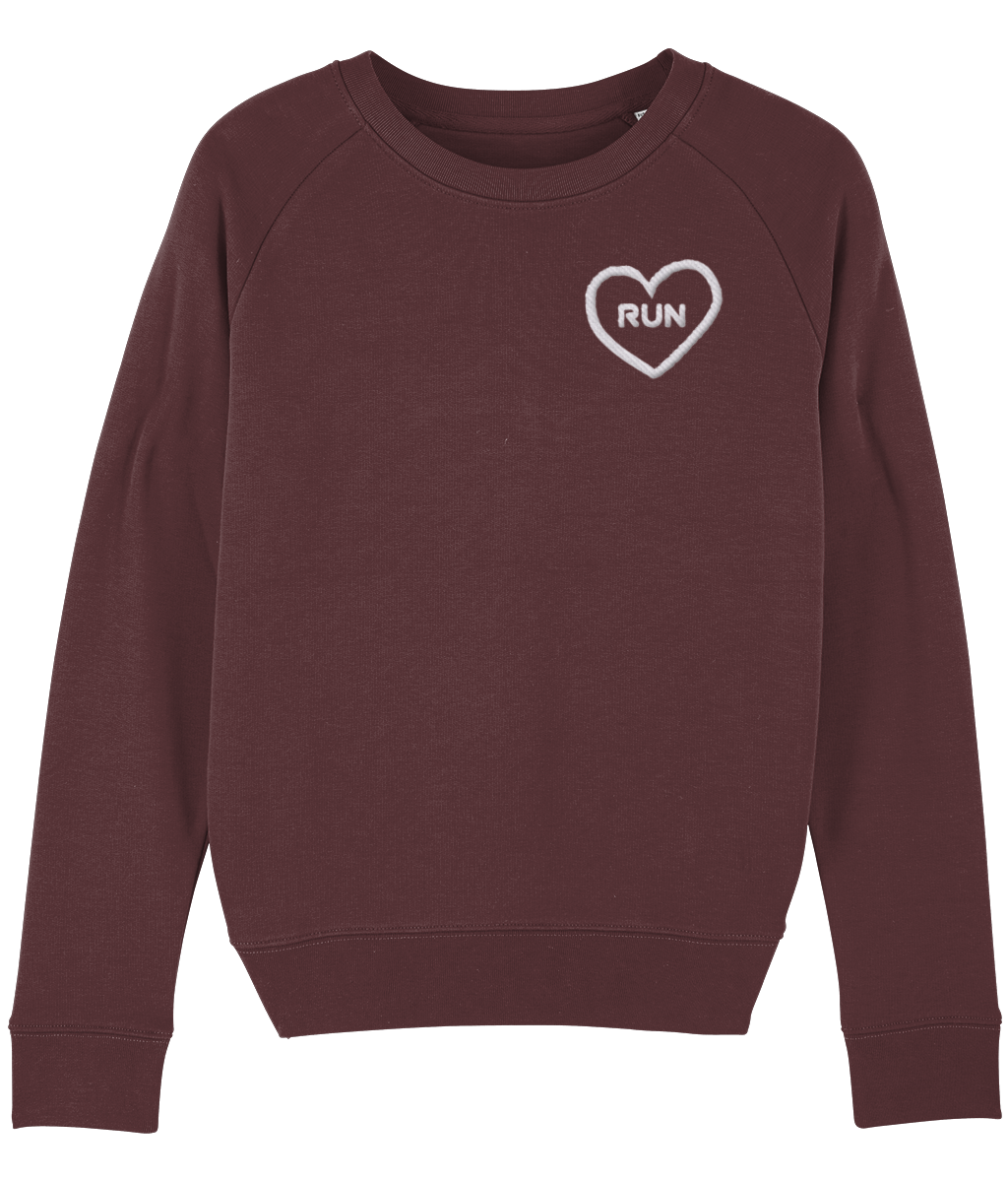 Embroidered Run Heart Sweater