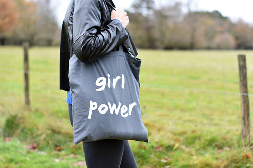 Girl Power Tote Grey - Track and Fit Club