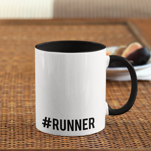 Hashtag Runner Mug Black