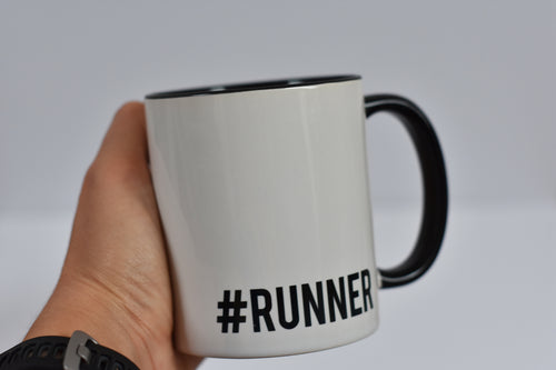 Hashtag Runner Mug Black - Track and Fit Club