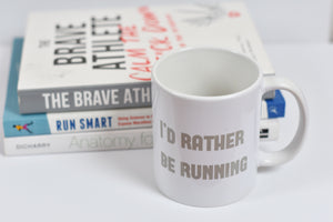 I'd Rather Be Running Mug Grey - Track and Fit Club
