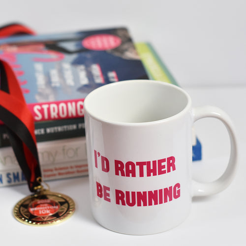 I'd Rather Be Running Mug Pink