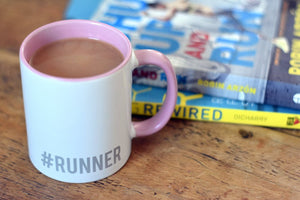 Hashtag Runner Mug Pink - Track and Fit Club