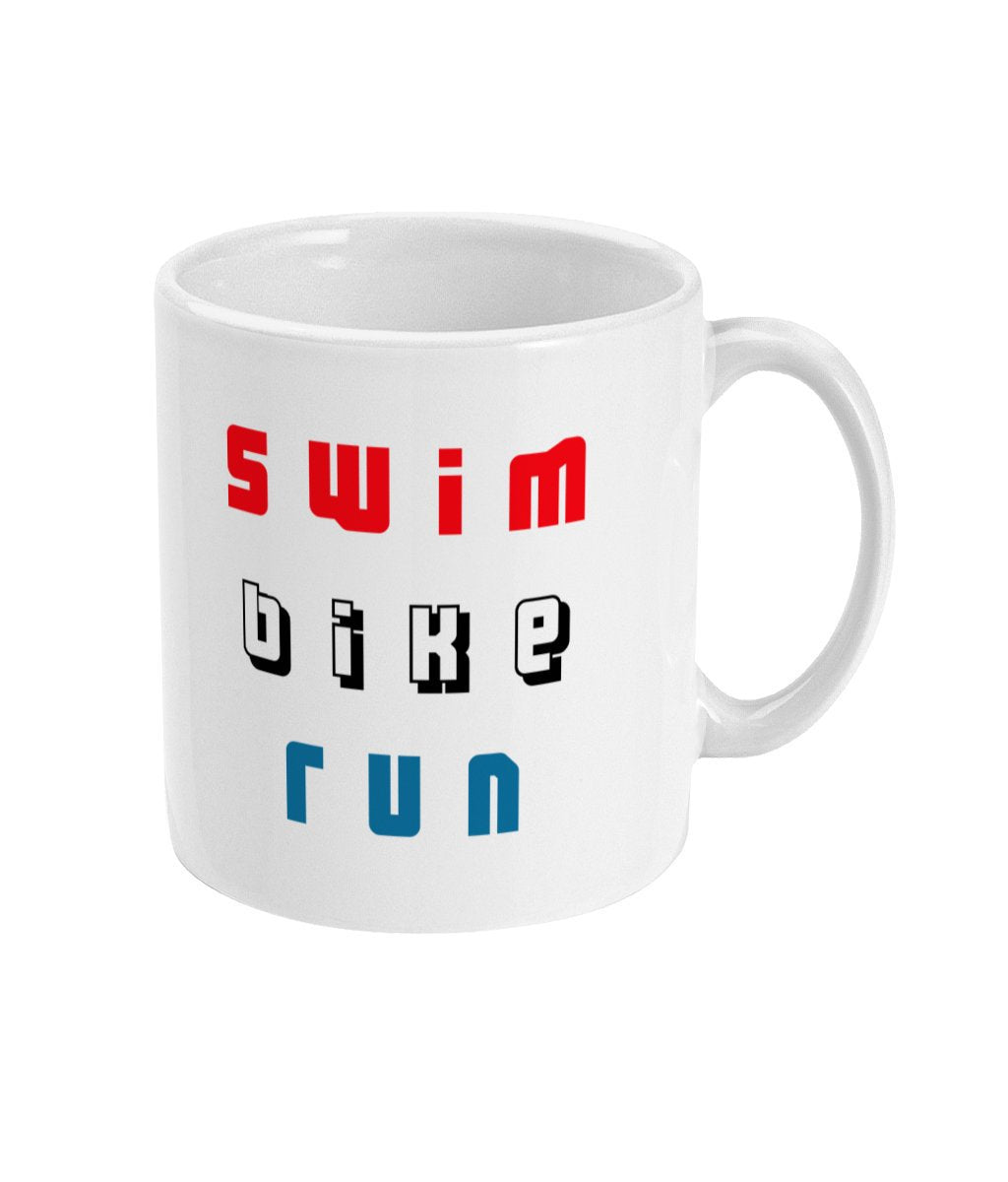 Swim Bike Run Triathlon Mug - Track and Fit Club