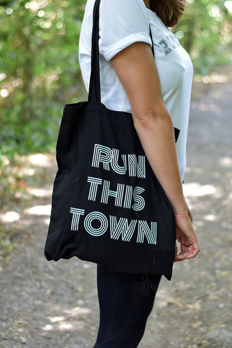 Run This Town Tote Bag Black - Track and Fit Club