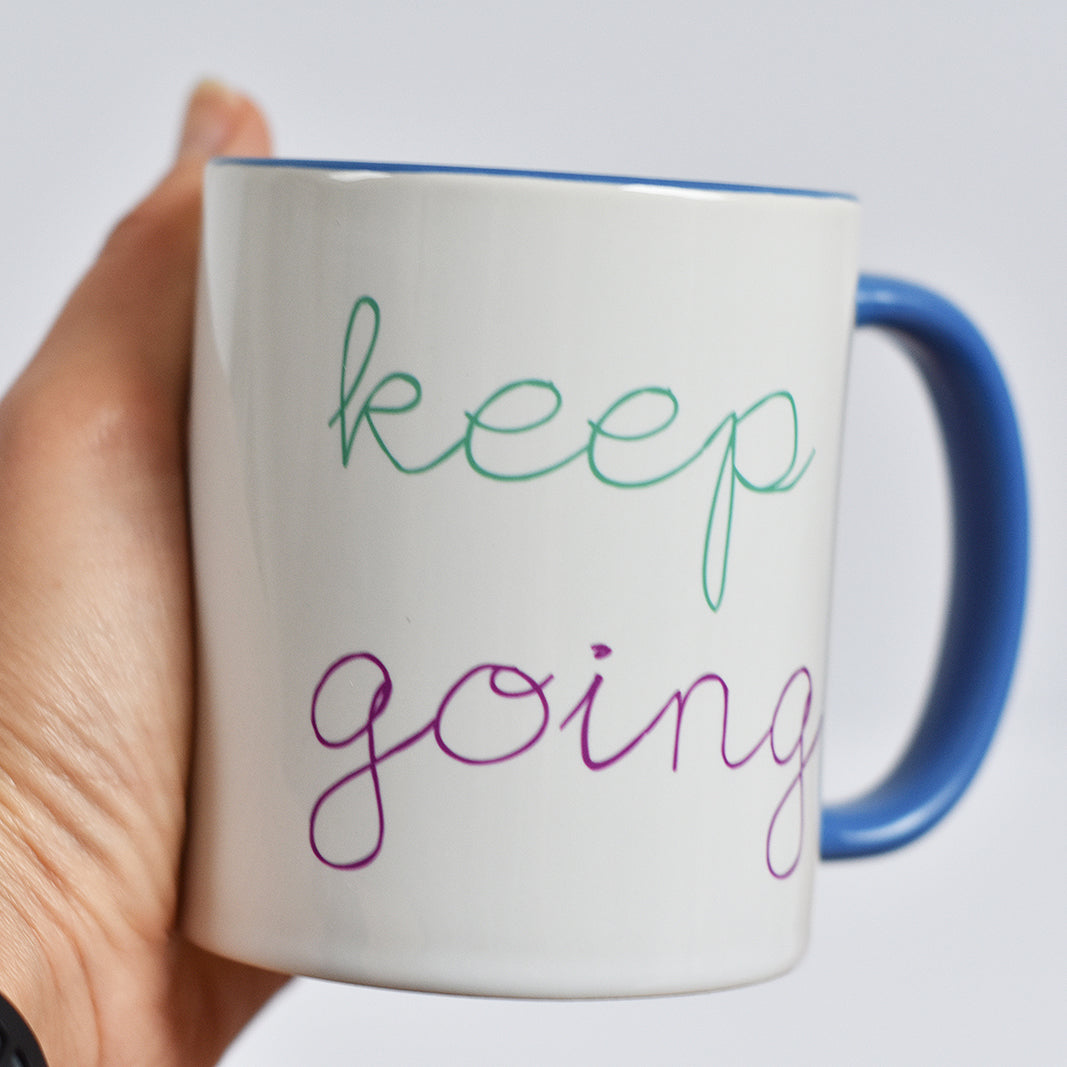 Keep Going Motivational Mug