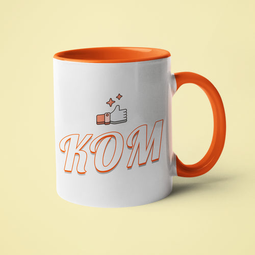 KOM King of the Mountain Cycling Mug