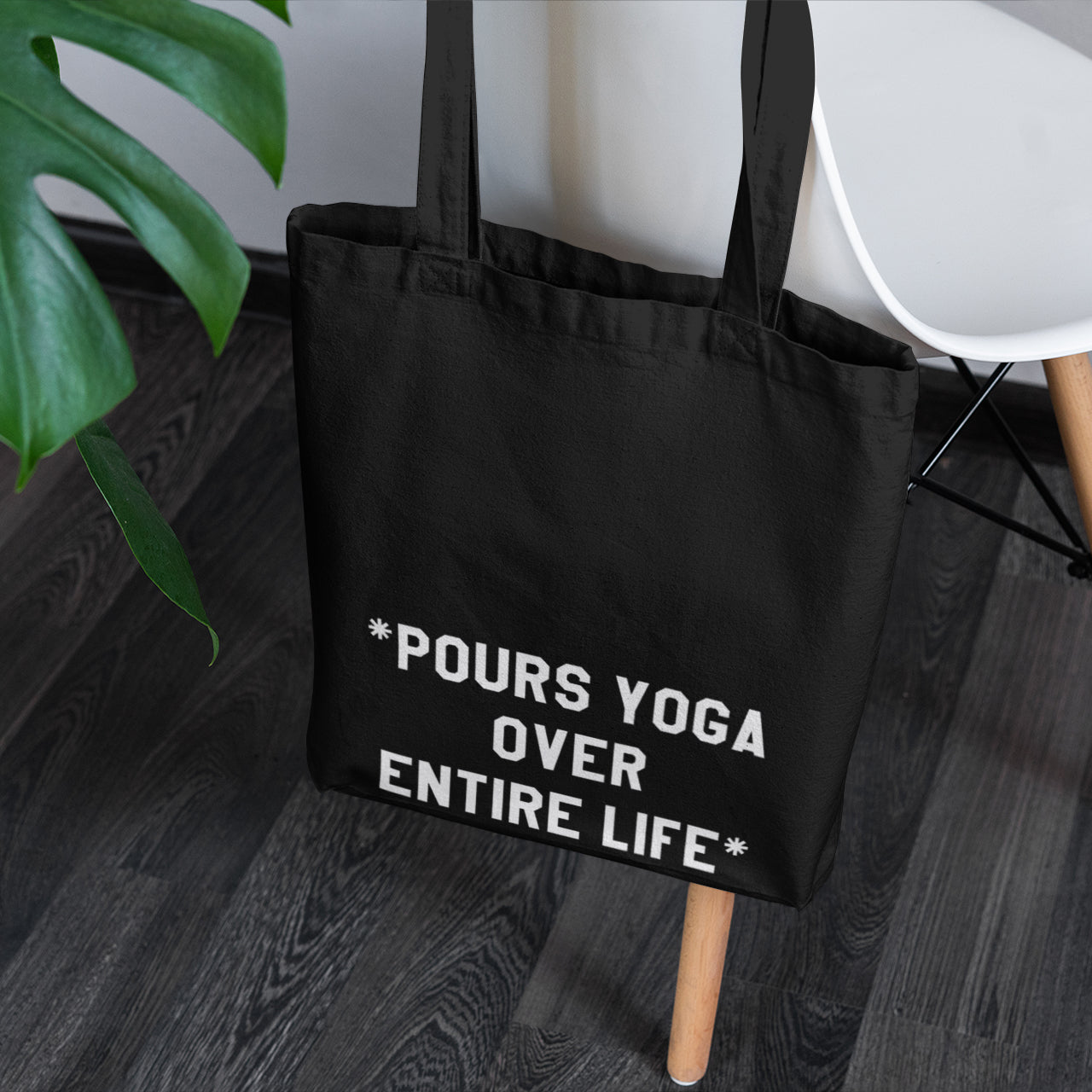 Pours Yoga Over Entire Life Tote