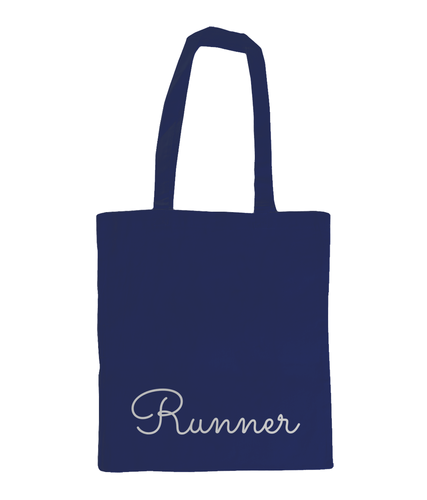 Runner Tote Bag Navy - Track and Fit Club