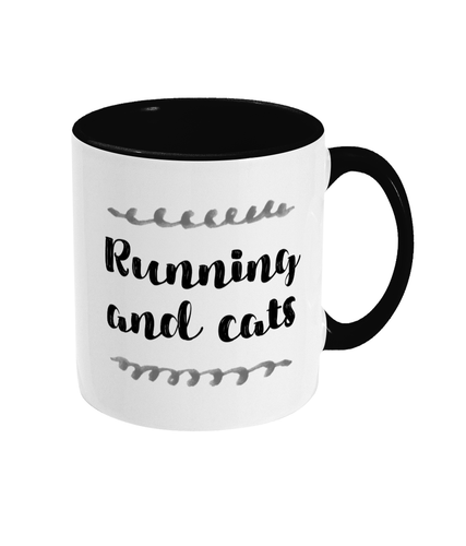 Running and Cats Mug - Track and Fit Club