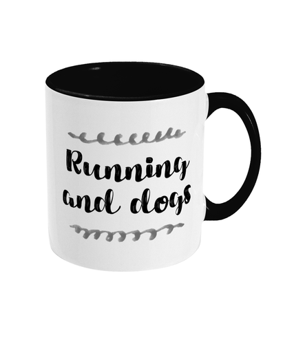 Running and Dogs Mug - Track and Fit Club