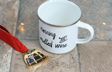 Load image into Gallery viewer, Running and Mulled Wine Enamel Mug - Track and Fit Club