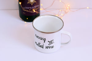 Running and Mulled Wine Enamel Mug - Track and Fit Club