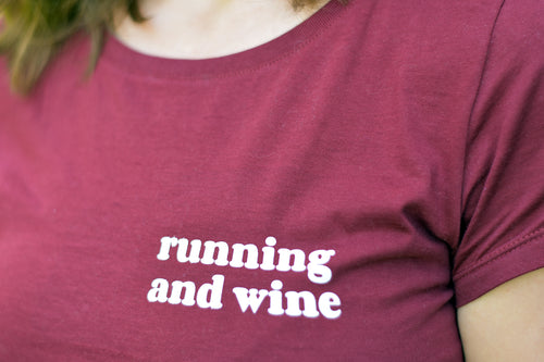 Running and Wine Tshirt - Track and Fit Club