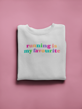 Load image into Gallery viewer, Running is My Favourite Rainbow Sweater