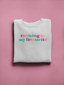 Running is My Favourite Rainbow Sweater