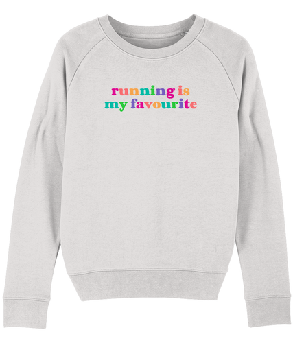 Running is My Favourite Rainbow Sweater - Track and Fit Club
