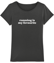 Load image into Gallery viewer, Running is my Favourite Tshirt - Track and Fit Club