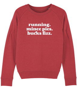 Running Mince pies Bucks Fizz Sweater - Track and Fit Club