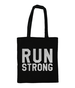 Run Strong Tote Bag Black - Track and Fit Club