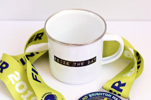 Seize The Day Enamel Mug - Track and Fit Club