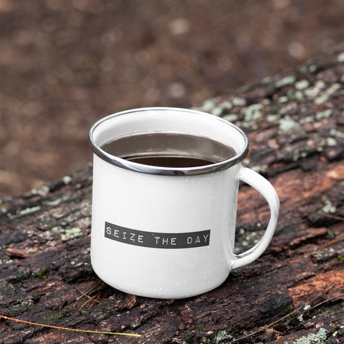 Seize The Day Enamel Mug
