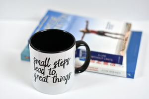 Small Steps Lead to Great things Motivational Mug - Track and Fit Club