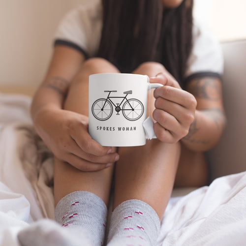 Spokes Woman Cycling Mug