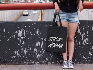 Strong Woman Tote Bag - Track and Fit Club