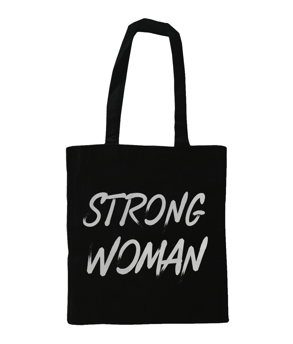 Strong Woman Tote Bag Black - Track and Fit Club