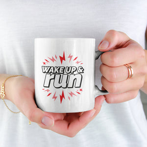 Wake Up & Run mug